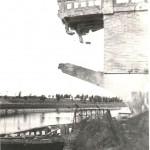 De opgeblazen brug over het Maas-Waal kanaal bij Malden in 1944. Foto 010