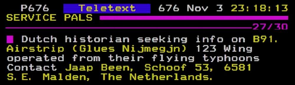 Service pals teletext Dutch Historian