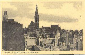 Gezicht op ruine Broerskerk – Nijmegen