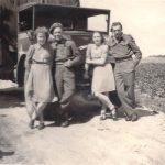5 Leny en Riet Polman en twee Engelsen die ingekwariert waren in het huis van Hartman